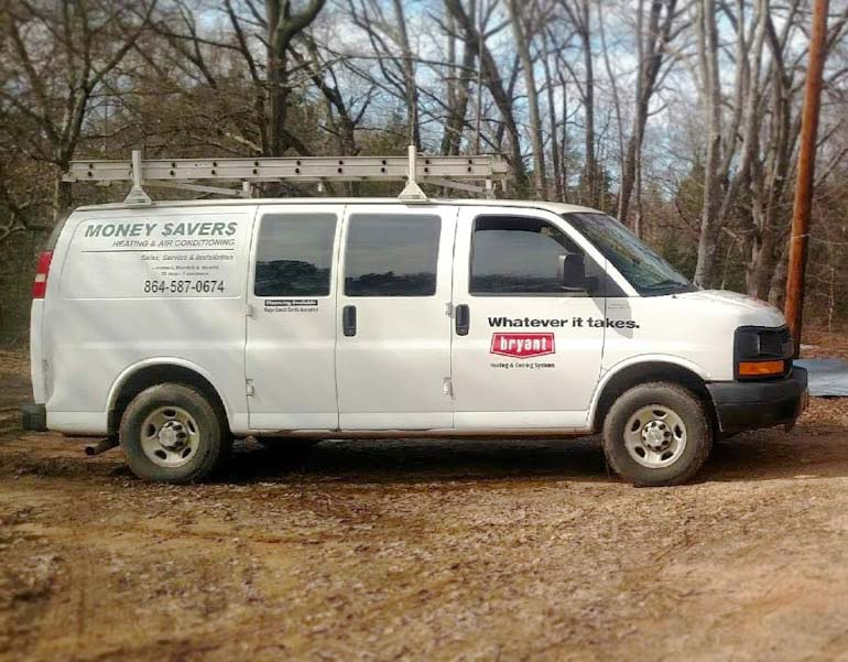 hvac work van